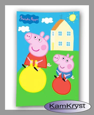 Peppa Pig Towel 40x60 - shop with linen KamKryst   Ręcznik Świnka Peppa 40x60 - sklep z pościelą KamKryst #peppa #peppa_pig #peppa_pig_towel