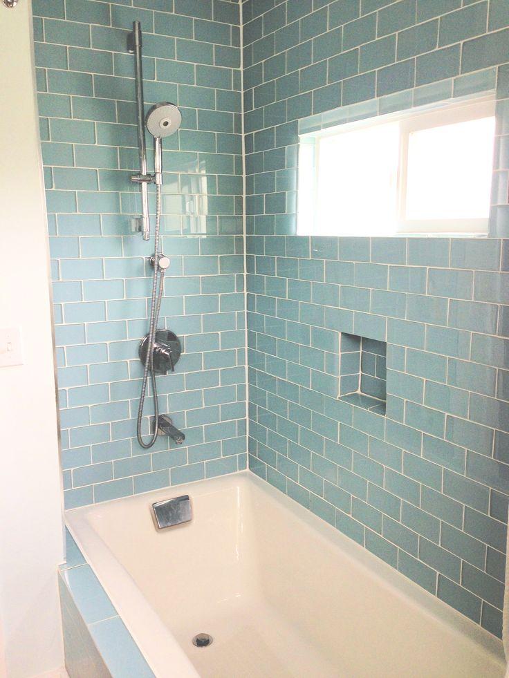 25 Best Ideas About Glass Tile Shower On Pinterest Glass Tile Bathroom Shower Niche And Glass Shower Shelves