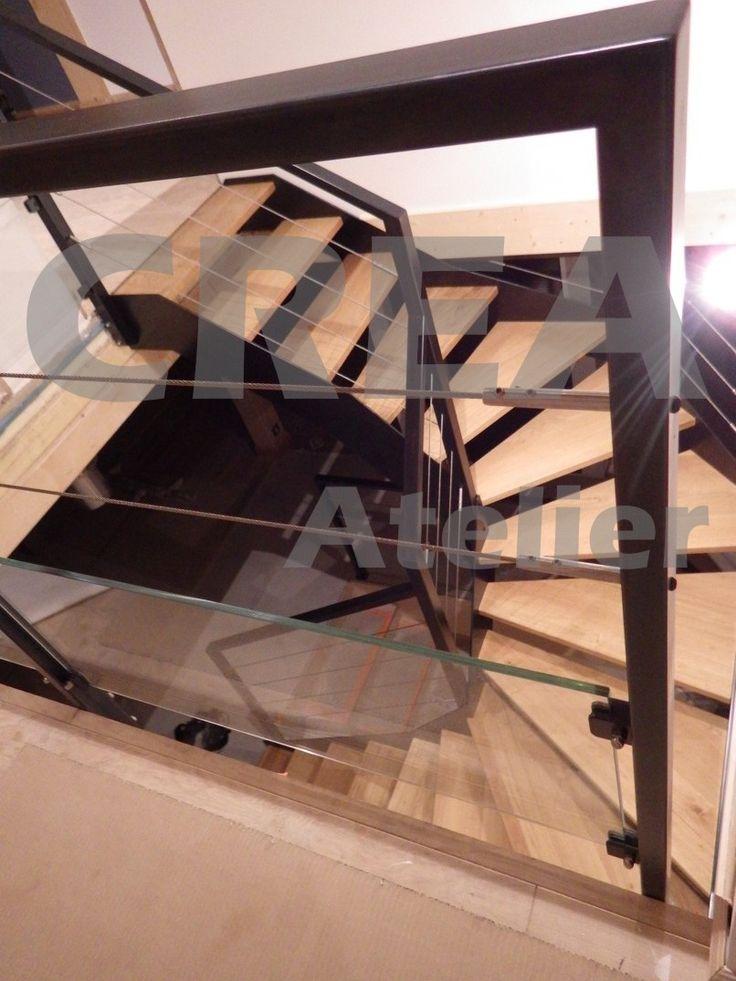 Les 25 meilleures id es concernant le tableau garde corps acier sur pinterest - Escalier cable acier ...