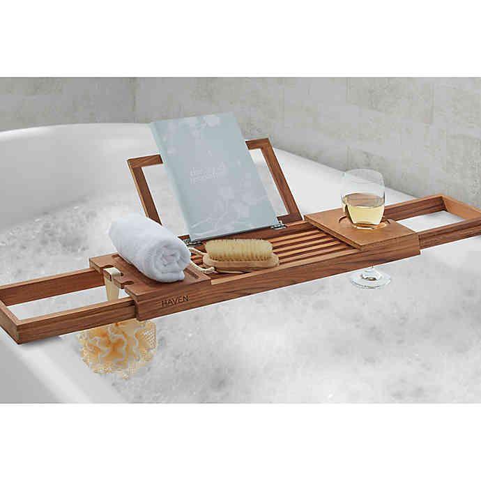Haven Teak Bathtub Caddy Bathtub Caddy Dream Bathtub Tub Tray