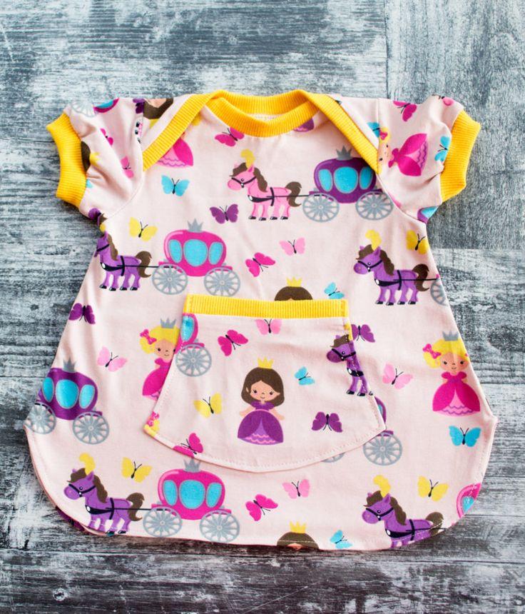 Ζέρσεϊ φορεματάκι #newborn dress #jersey dress #girl dress #handmade dress #toddler dress #baby dress