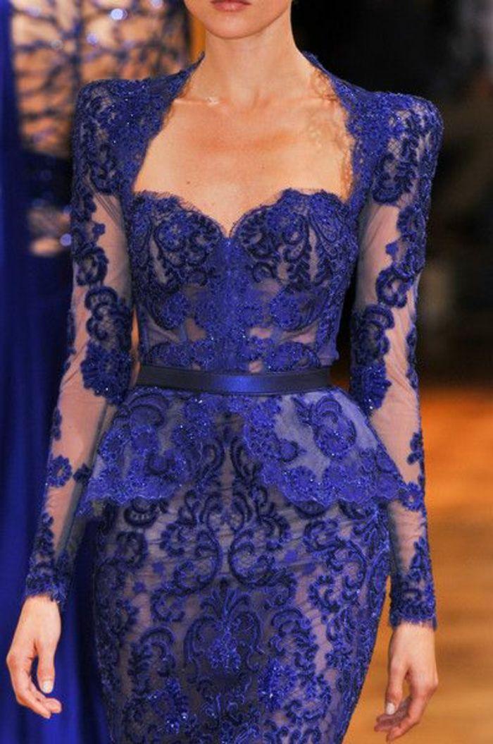 comment choisir la meilleure robe de soiree pas cher en dentelle bleue