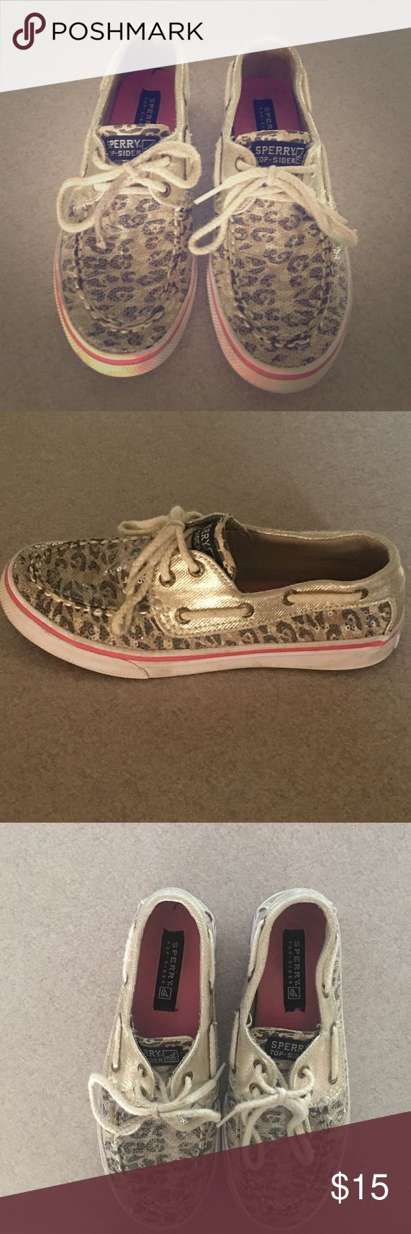 Little Girl Sperry's Very cute leopard print Sperry's for little girls!! Great condition Sperry Top-Sider Shoes