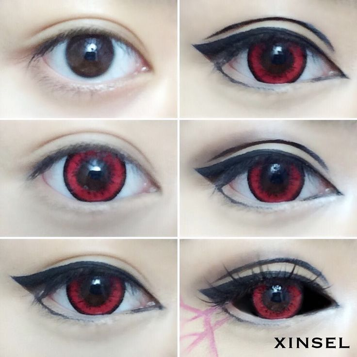 Eye Makeup - Easy Touka Kirishima Ghoul Eye Tutorial Details on last post smh my eyes creased so bad - Ten (10) Different Ways of Eye Makeup