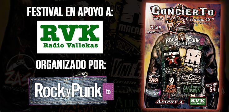 Festival en apoyo a Radio Vallekas el 6 de Octubre en la Sala Hebe
