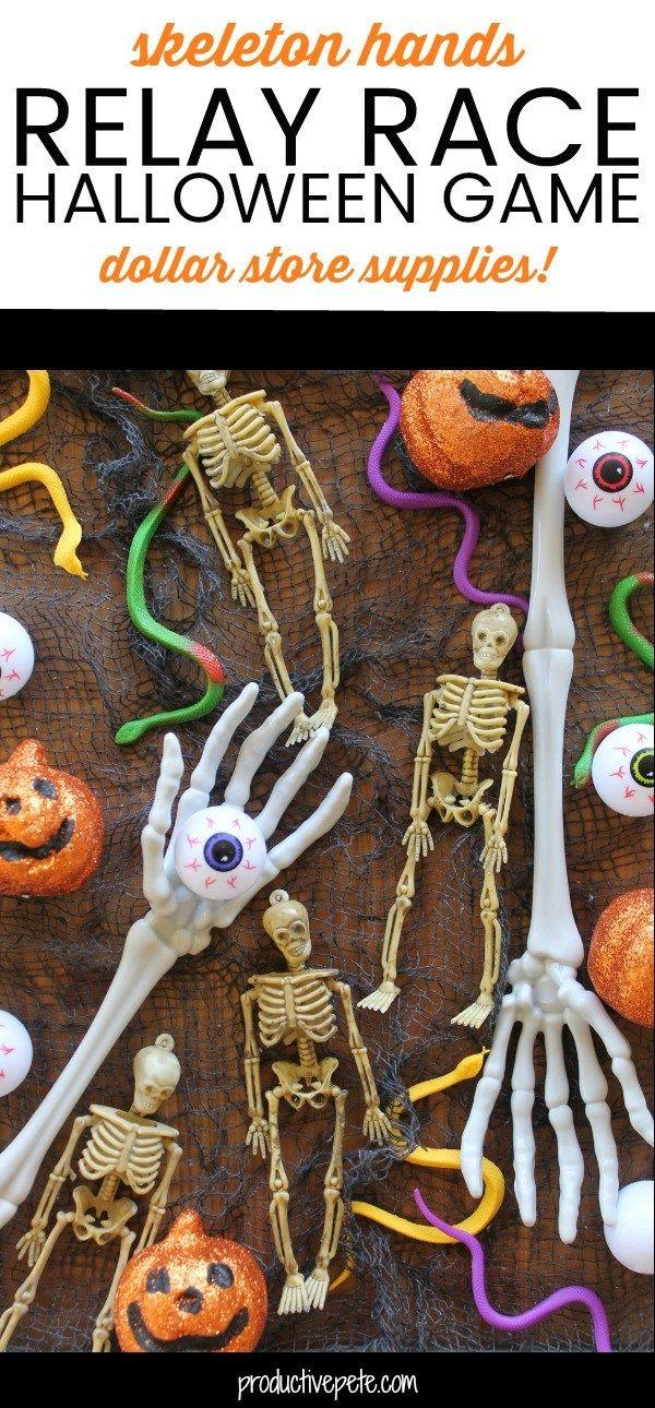 Skeleton Hands Relay Race Halloween Game Halloween Pinterest