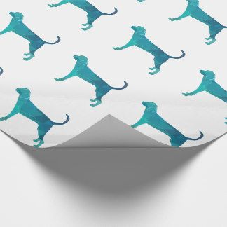 Treeing Walker Coonhound Geometric Silhouette Wrapping Paper