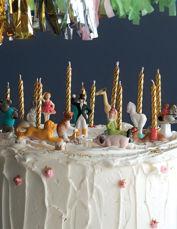Circus Candle Holders Birthday Cake With Candles Happy Birthday Candles Cake Birthday Candles