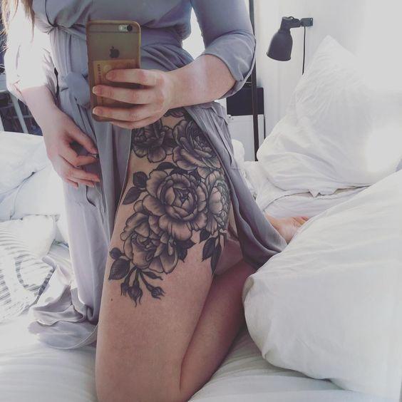 @EssenceAQ Floral Hip Tattoo