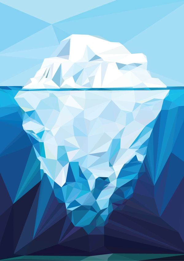 Iceberg Polygon Art by nasrul razali, via Behance