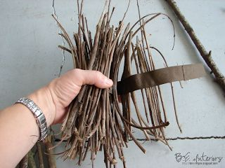 B.E. Interiors: Twig Chandelier Tutorial                                                                                                                                                     More