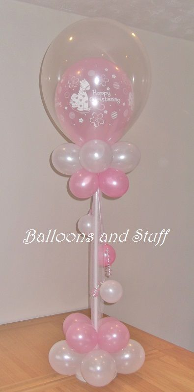 25 best ideas about christening balloons on pinterest for Baby girl baptism decoration ideas