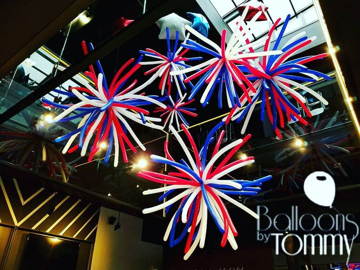 Indoor fireworks for the Fourth of July! | Balloons by Tommy | #balloonsbytommy