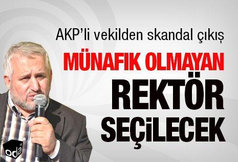 AKP'li vekilden skandal çıkış