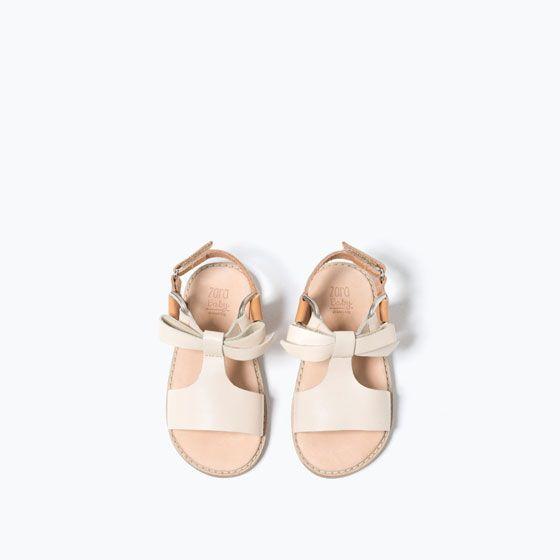 baby girl leather sandal Zara Kids