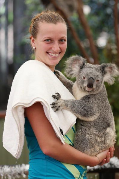 #Kvitova makes a new friend down in the outback