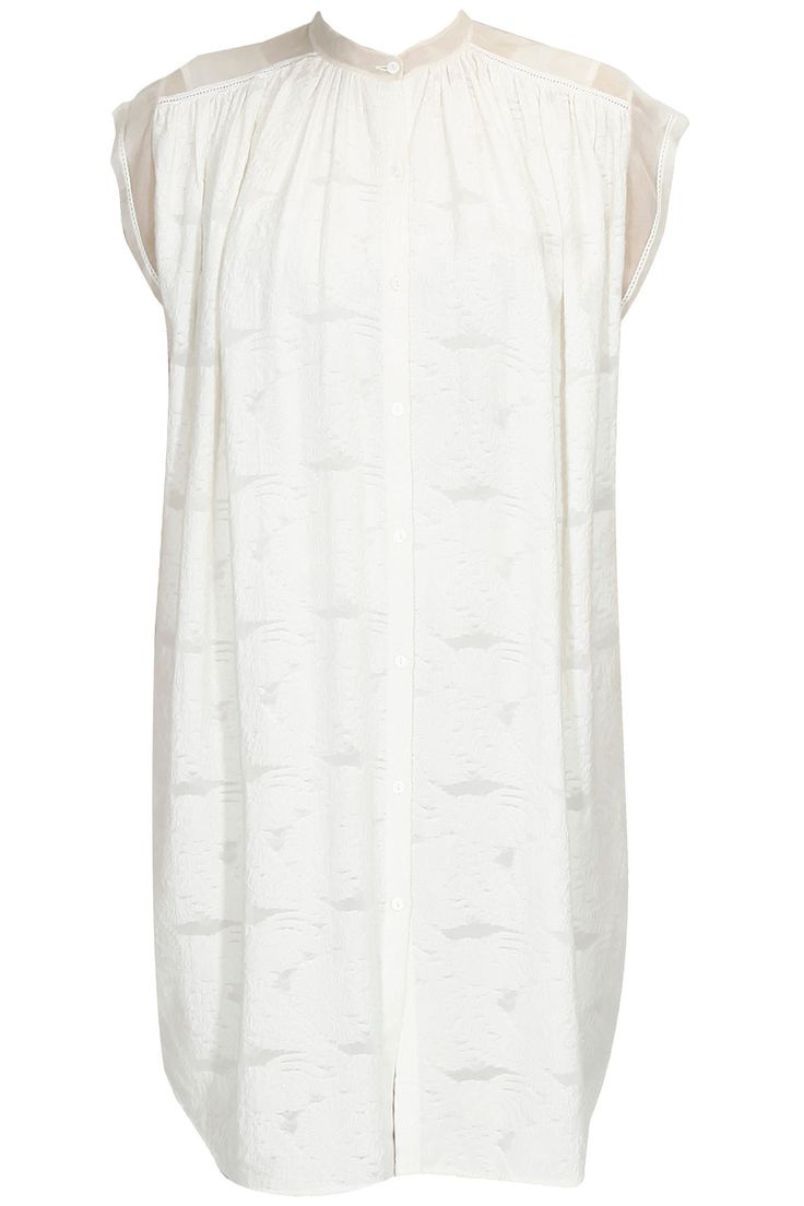 Off white soft ombrey high neck tunic available only at Pernia's Pop Up Shop.#perniaspopupshop #wedding #shopnow #notsoseriousbypallavimohan#newcollection #clothing