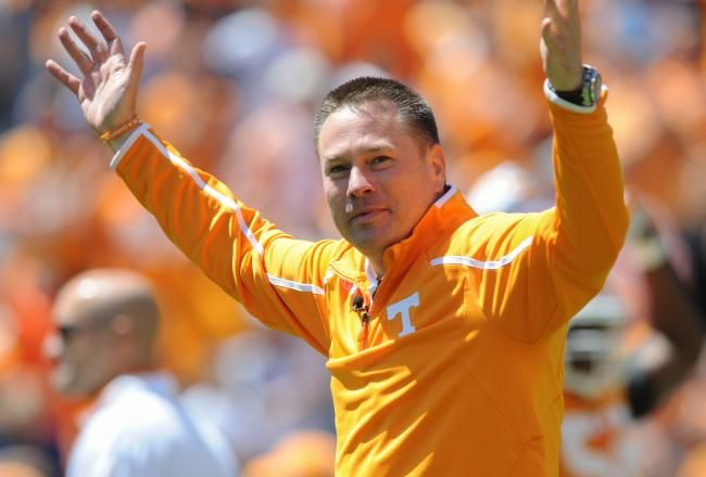 Head football coach Butch Jones; He is really getting the fans excited!