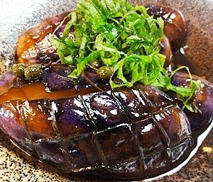 茄子の山椒煮  ©楽天レシピ  ◆香りがよいです。