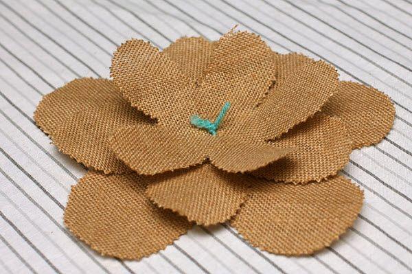 DIY Wedding Decorations: Burlap Flower Tutorial