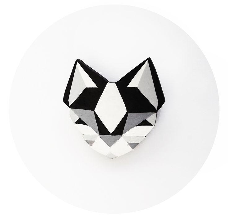 geometric cat tattoo idea