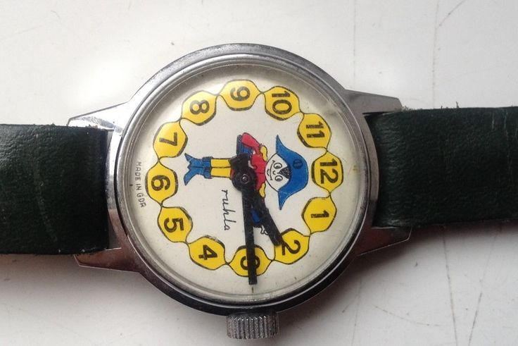 ON AUCTION ON THURSDAY 1 OCTOBER FROM 8pm.....VINTAGE RUHLA CARTOON DESIGN PIRATE MECHANICAL COLLECTABLE WATCH