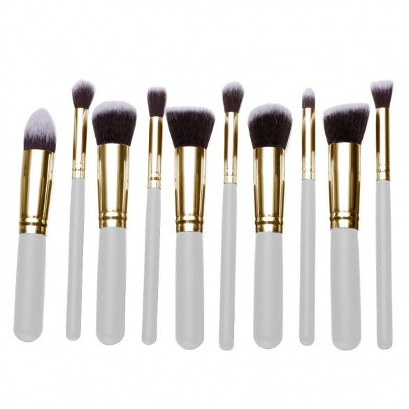 10 PCS Professional Makeup Brush Cosmetic Eyeshadow Face Powder Foundation Lip Brushes Kit Set