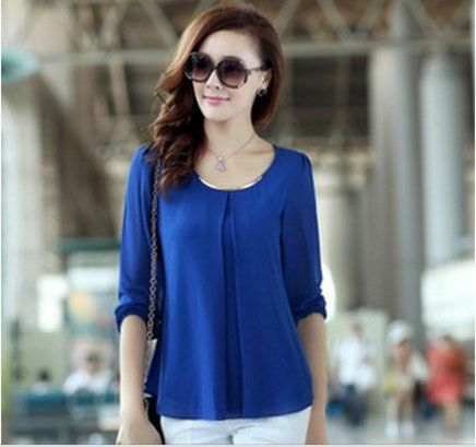 Cheap blouses wholesale, Buy Quality blouse cotton directly from China  blouse shirt Suppliers: New 2014 Spring Summer Women Blouse Ladies Casual  Loose Long ...