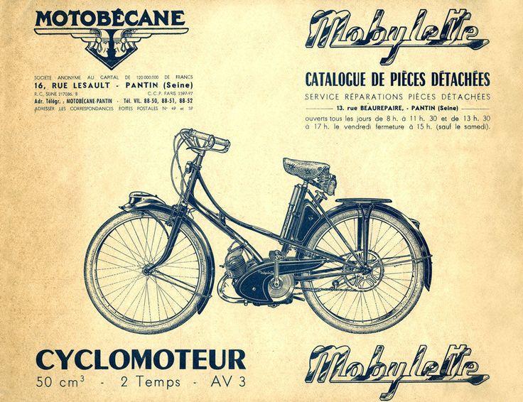Mobylette Motobecane Moped AV3 Spare Parts Manual in French on CD | eBay