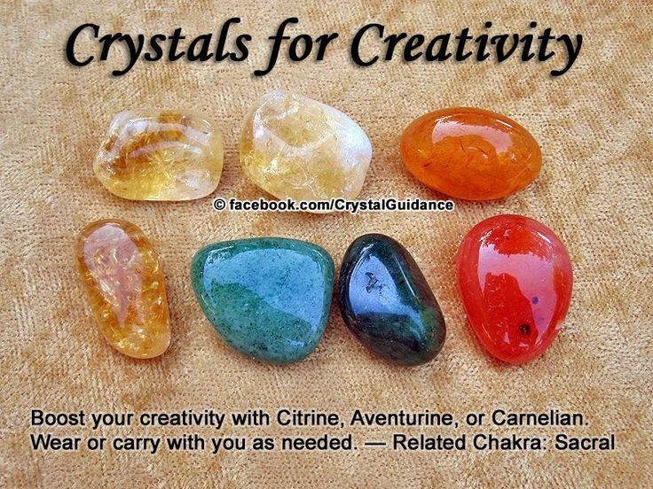 Creativity — Citrine, Aventurine, or Carnelian.