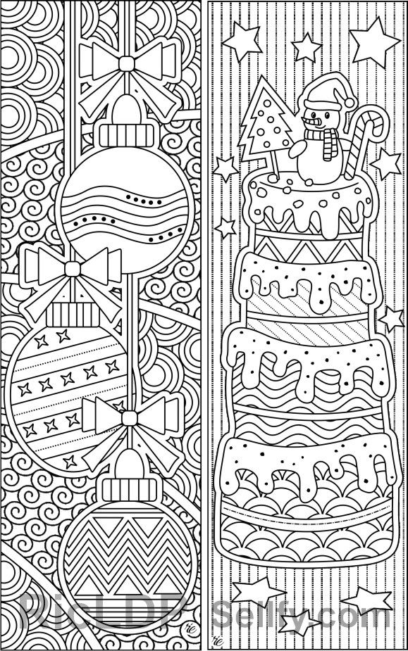 Set Of 8 Christmas Coloring Bookmarks Coloring Bookmarks Christmas Coloring Sheets Christmas Colors