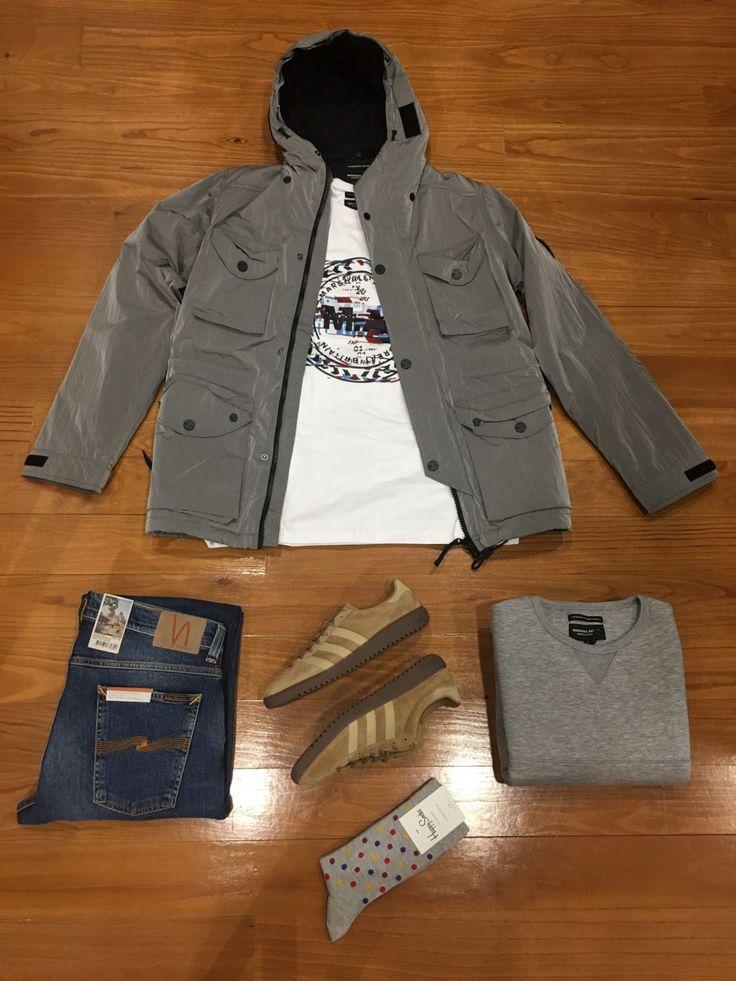 "Blog #RivendelMadrid ""British Outfit @marshallartist_ "" #marshallartist #cazadora #jacket #sudadera #sweatshirt #camiseta #tshirt #nudiejeans #pantalones #denim #adidasoriginals #zapatillas #footwear  #happysocks #calcetines #socks #guardarropa #wardrobe #madrid  http://www.rivendelmadrid.es/blog/"