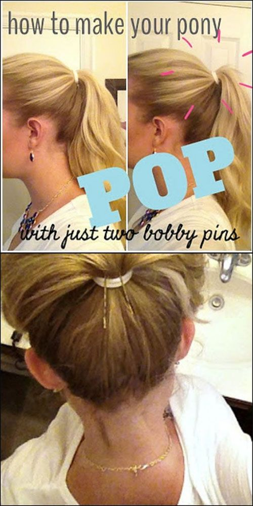 how to get the perfect ponytail using bobby pins!