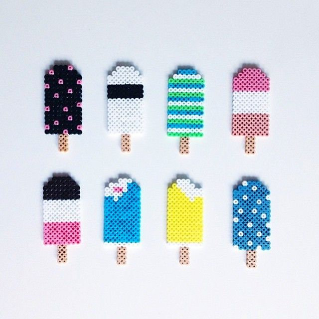Popsicles hama beads by saras__verden
