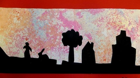 magic paper and silhouette