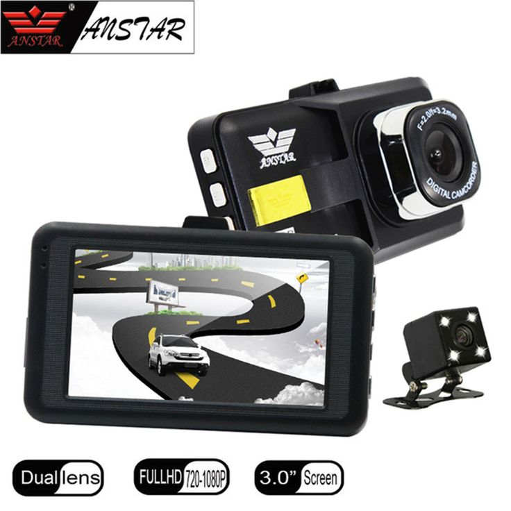"Click Image to Buy.  ANSTAR 3"" Car DVR Dual Lens Car Camera DVR Rear View Camera Mirror Blackbox Dash Cam Night Vision DashCam Car Recorder Registrar *~* Just click the VISIT button will lead you to find similar beautiful pieces on  AliExpress.com"