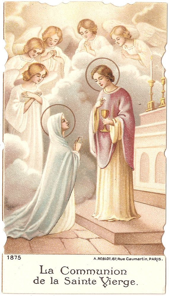 French Antique Holy Prayer Card Child Jesus by VintagePaperAttic, $6.99