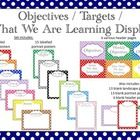Need a gorgeous way to display your classroom Objectives and Targets? This is for you! Simply print each page and either laminate individually or ...