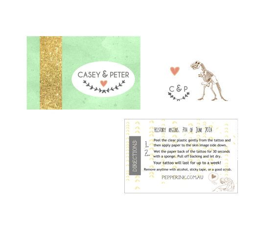 DIY temporary tattoo wedding favors custom packaging  by pepperink, $120.00   – weddings and elopements