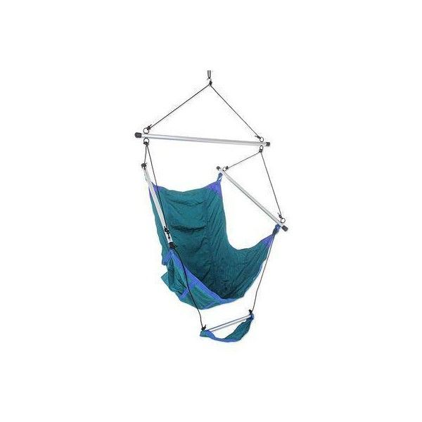 NOVICA Teal Parachute Hammock Swing Portable Hanging Chair (1 210 SEK) ❤ liked on Polyvore featuring home, outdoors, patio furniture, hammocks & swings, green, hammocks, homedecor, swing, outside swing and outdoor hanging chair