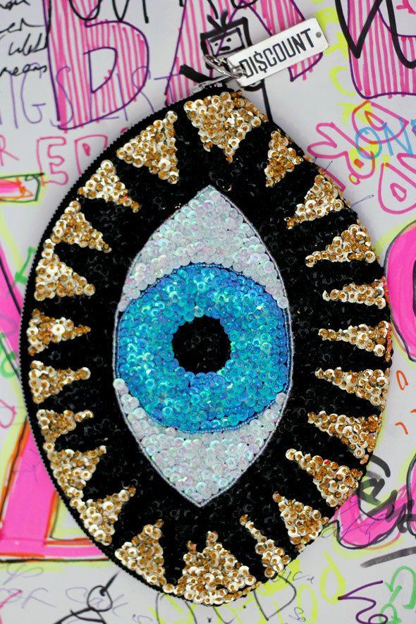 LARGE CLA$$IC 'EVIL EYE' CLUTCH | DI$COUNT UNIVER$E
