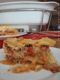 Mmm... ale pycha!: Włoska lazania z mięsem mielonym