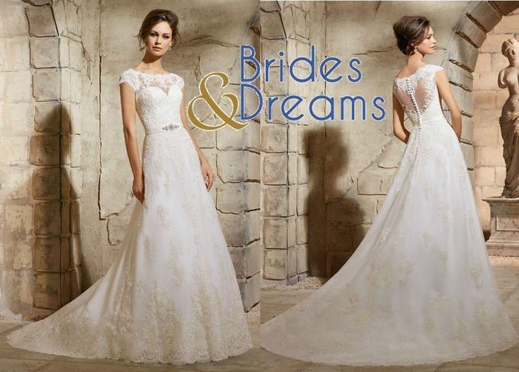 Delicado Vestido de Novia de Brides and Dreams con bellos detalles. Una nueva tendencia que crea un encanto único ven a Portal de Bodas Guatemala