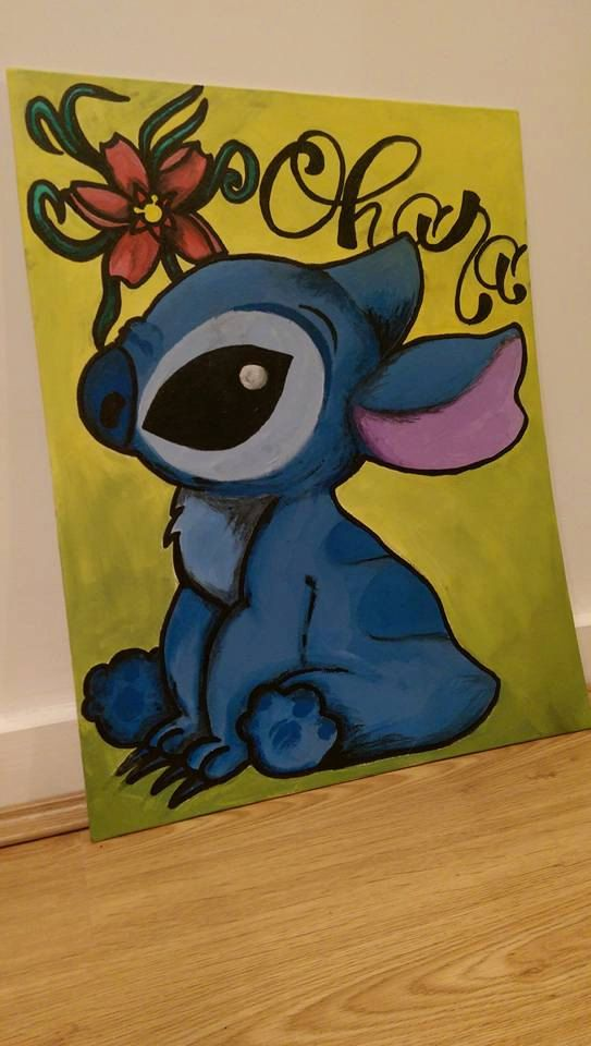 Disney inspired hand-painted acrylic canvas: Lilo by Spamalagee