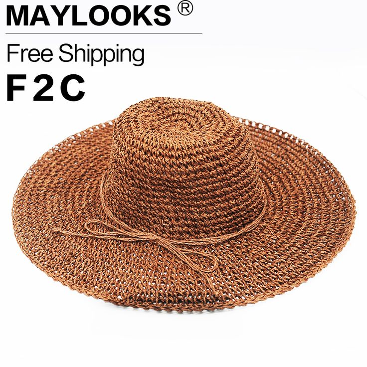 Maylooks HOT Style Summer Large Brim Straw Hat Adult Women Girls Fashion Sun Hat Uv Protect Big Bow Summer Beach Hat HN09-in Sun Hats from Women's Clothing & Accessories on Aliexpress.com | Alibaba Group
