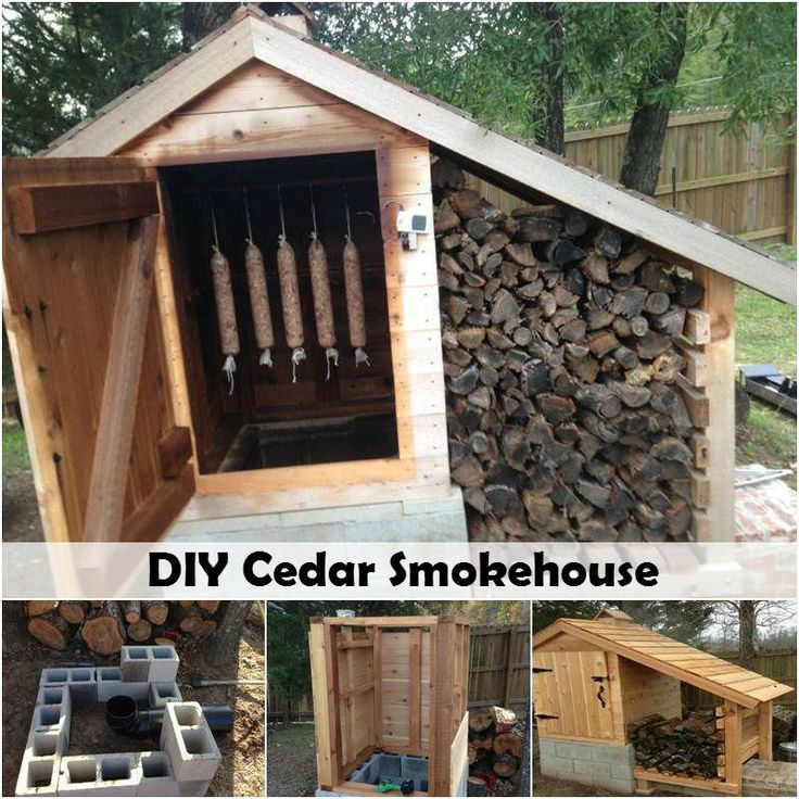 diyncraftz: DIY Cedar Smokehouse If you like smoked meat as much as I do then you will love this DIY Cedar Smokehouse DIY project! Besides freezing, storing and canning it in the root cellar, smoking also offers a very natural way to preserve our food. And the best part is it also provides a wonderful smoky flavor to both meats and cheese which I absolutely love. So if you are interested in smoking your own meat or cheese, which is more healthy and safe, why not build yourself a smokehouse?…