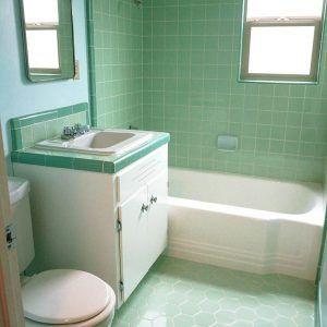 Dark Green Bathroom Floor Tiles