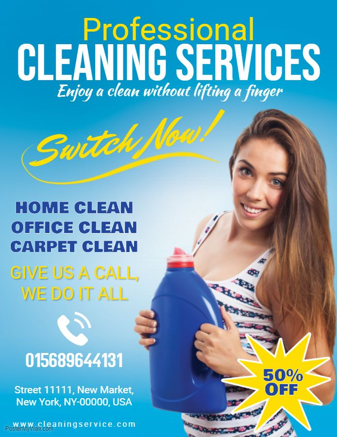 Professional Cleaning Service Social Media Ad Template Cleaning