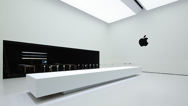 Another look inside Apple's Hands-on Pavilion.