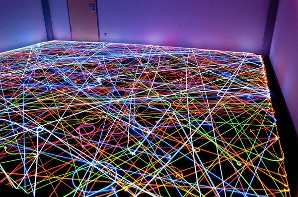 An enterprising group of robotic vacuum cleaner owners have used LEDs affixed to the top of their Roombas to create these amazing long exposure photographs.
